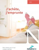 Brochure : j'achète, j'emprunte un bien immobilier, un crédit en Belgique